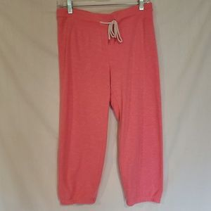 American Eagle pink cropped sweatpants